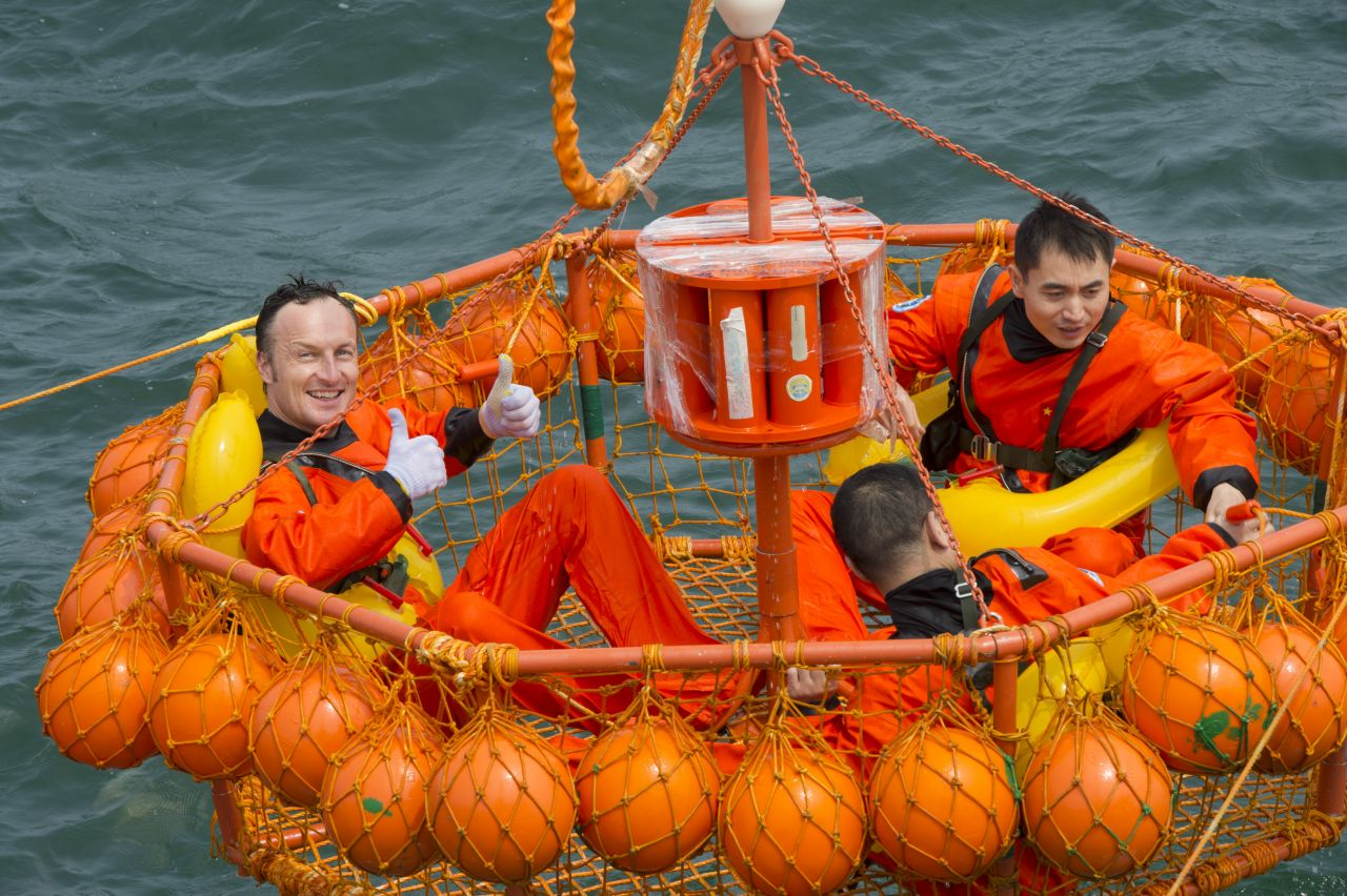 ESA astronaut Matthias Maurer and Chinese colleagues rescued from the sea.