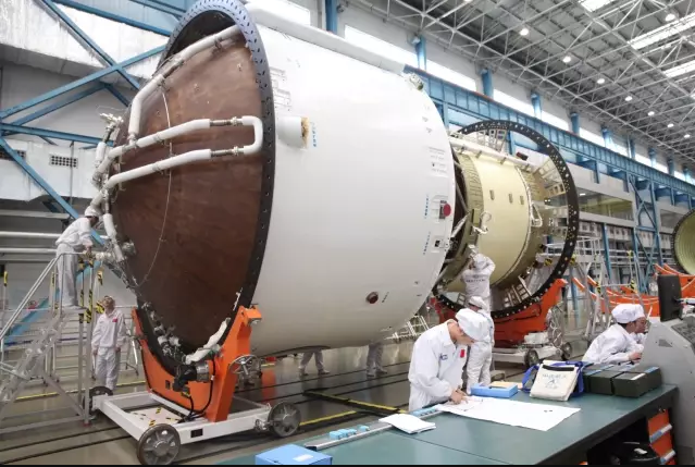 Long March 5 (Y3) components being prepared in Tianjin earlier in 2017.
