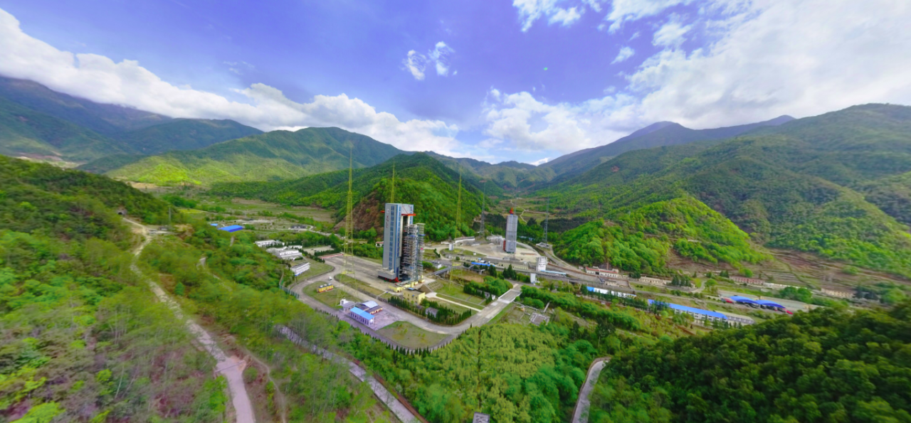 A panoramic view of China's Xichang Satellite Launch ...