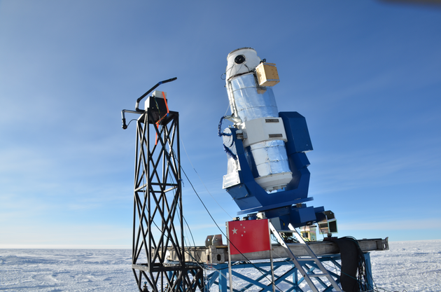 China's AST3-2 Antarctica Schmidt telescope at Kunlun Station.
