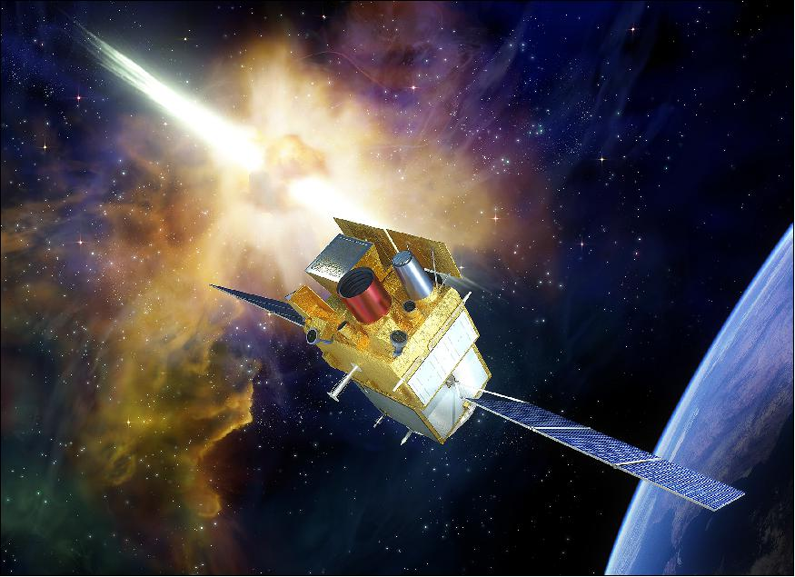 Artist's rendition of the deployed SVOM spacecraft.