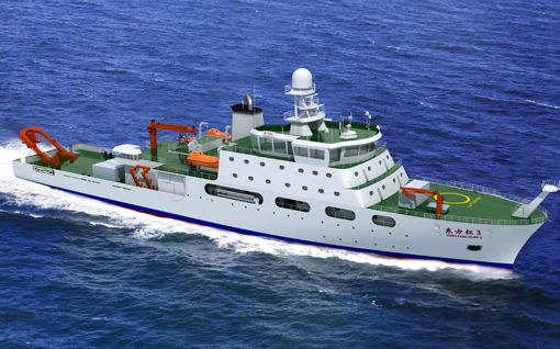 China is planning to build at least ten scientific research vessels in order to boost its marine research fleet to almost 50 ships.