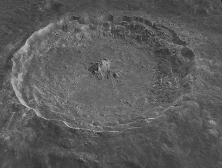 An image of a lunar crater taken by China's Chang'e-2 lunar probe.