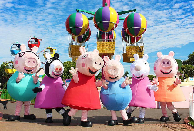 Characters at the Peppa Pig World theme park in the UK.