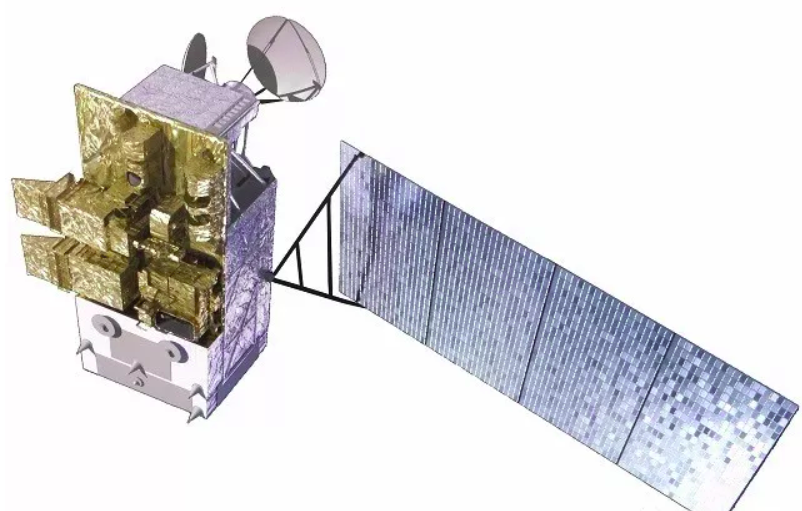 A rendering of the Fengyun-3 series satellite.