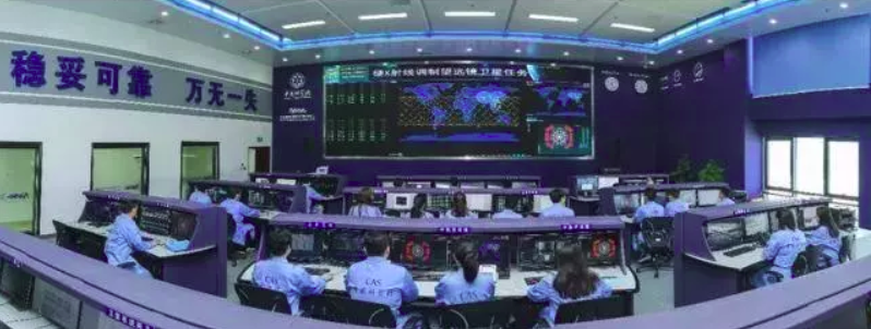 The Insight-HXMT space science operations room in Huairou, Beijing.