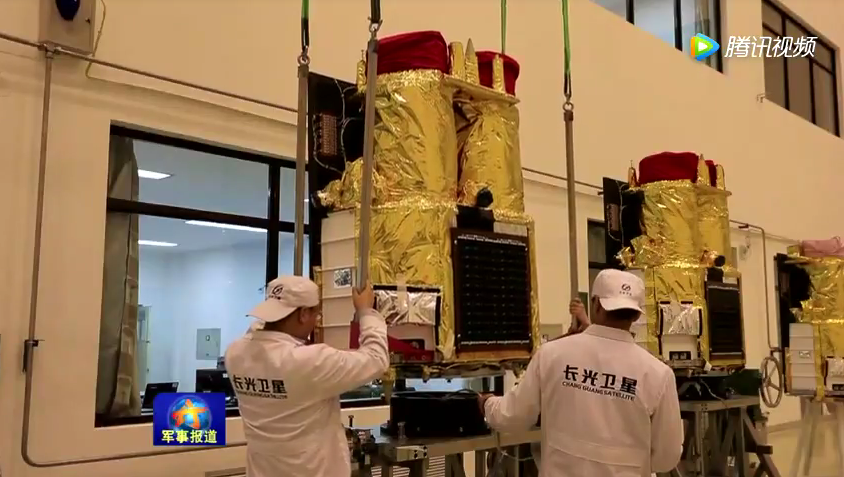 A pair of Jilin-1 Earth observation satellites under development.
