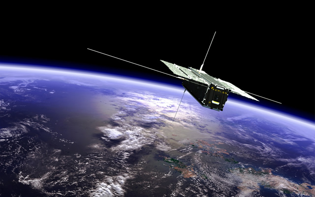 A rendering of the Kepler Communications CubeSat aboard the Long March 11 launch on January 19, 2018.
