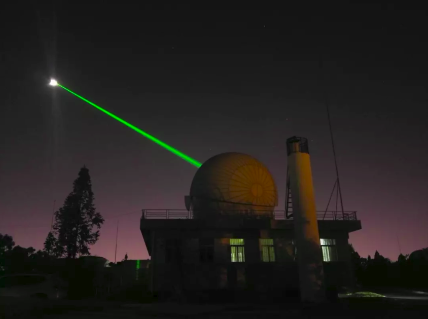 The 1.2-meter telescope laser ranging system of the Yunnan Observatory under the Chinese Academy of Sciences.