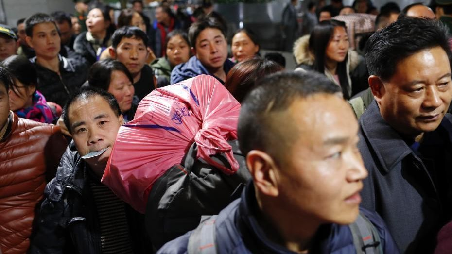 The Chinese Spring Festival rush began on Thursday morning this year, with major railway stations adding extra trains to accommodate the number of passengers expected.