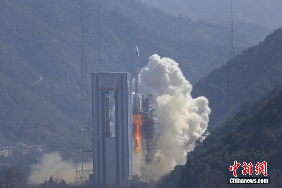 The Long March 3B/YZ-1, carrying Beidou satellites 28 and 29 to medium Earth orbit, lifts off from Xichang Satellite Launch Centre at 13:03 local time on February 12, 2018.