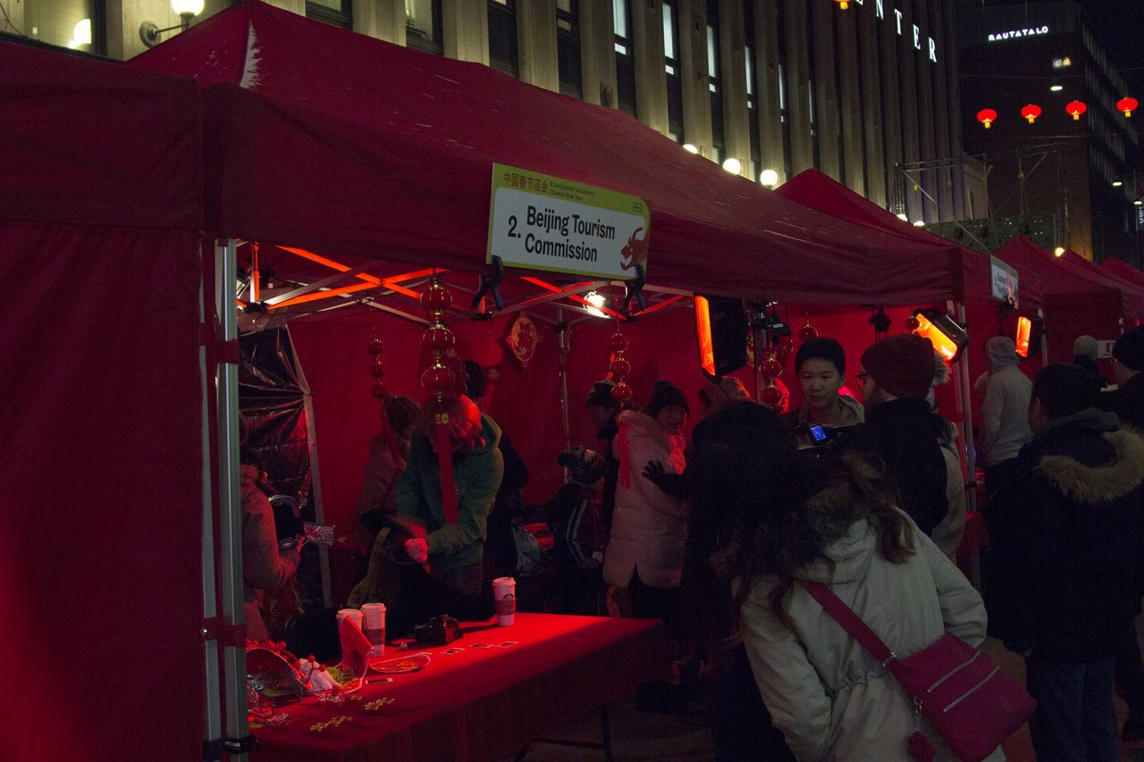 The Commission also ran a tent next to the main stage during Helsinki's Chinese New Year celebrations.
