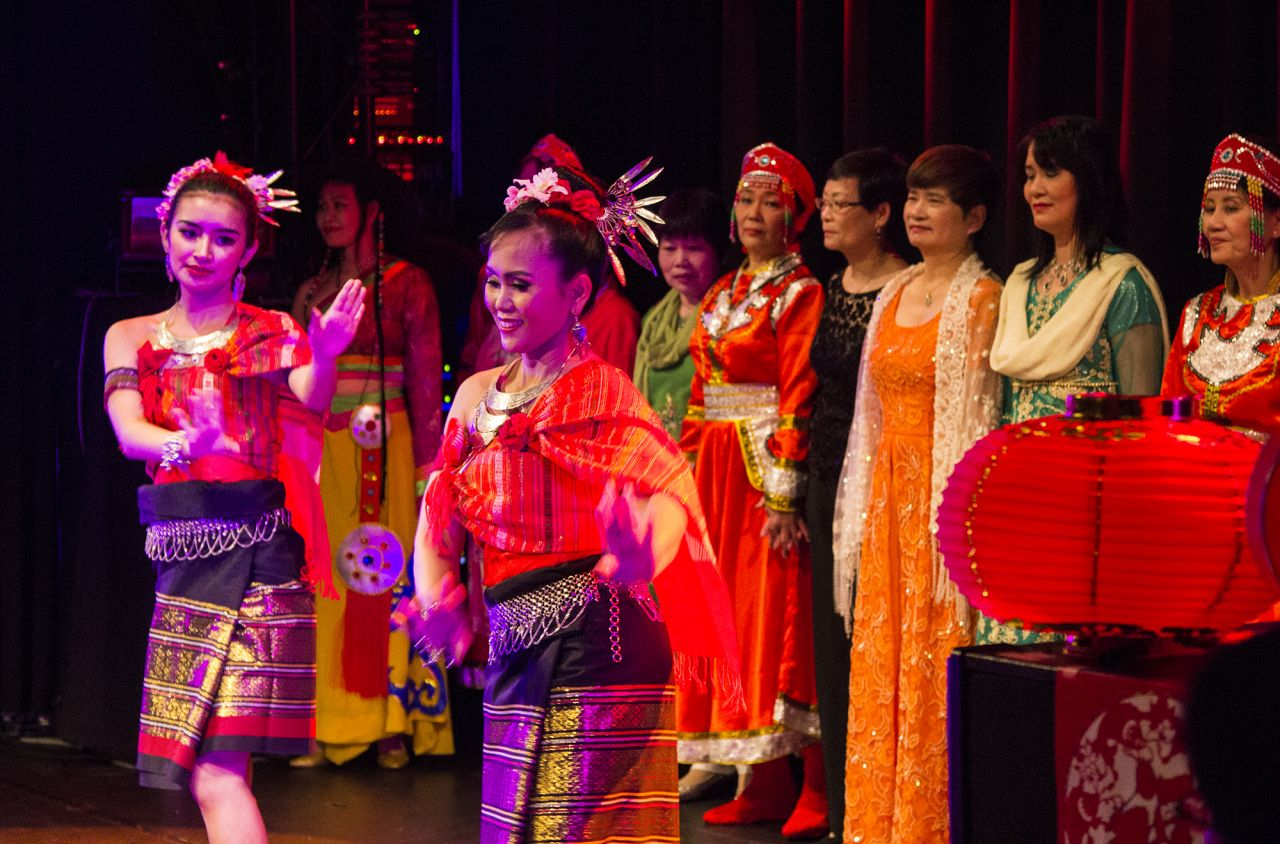 Dancers performed a number of colourful routines throughout the evening.