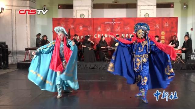Sichuan Opera performers at the Spring Festival in Chicago.