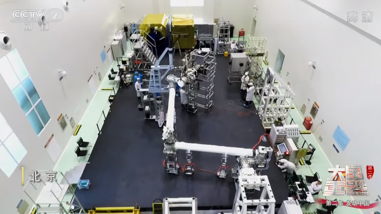 Robotic space arm in testing for Chinese Space Station