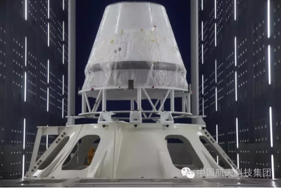 The next generation crewed spacecraft reentry capsule ahead of launch in June 2016.