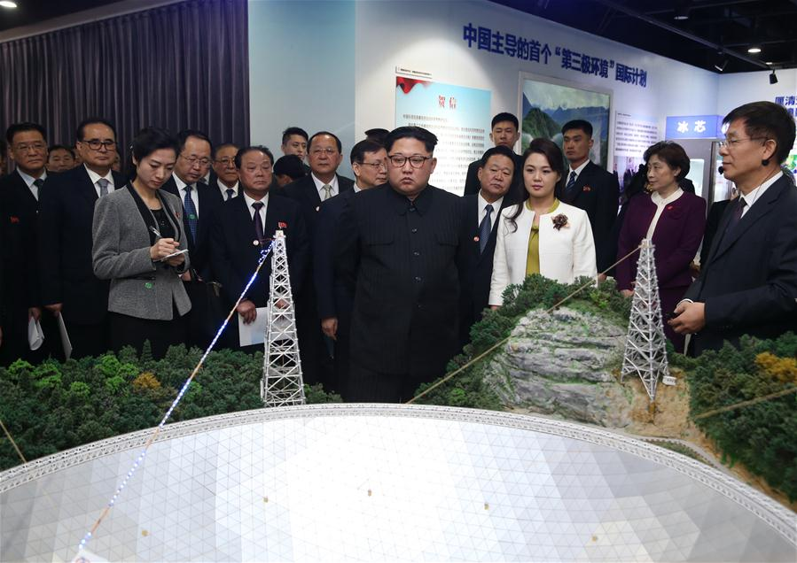 Kim Jong-un visits an exhibition showcasing the innovation achievements of the Chinese Academy of Sciences since the 18th National Congress of the Communist Party of China (CPC).