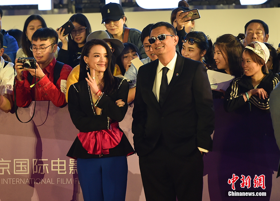 Director Wong Kar-wai and actress Qi Shu at the 2018 Beijing International Film Festival, where they were both judges.
