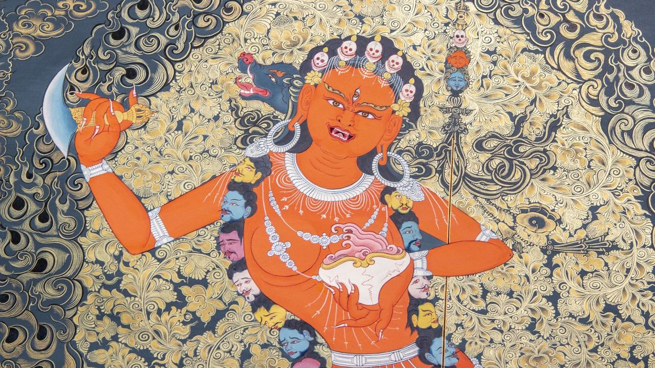 Thangka painting at Spotlight on Chinese Ink Painting.