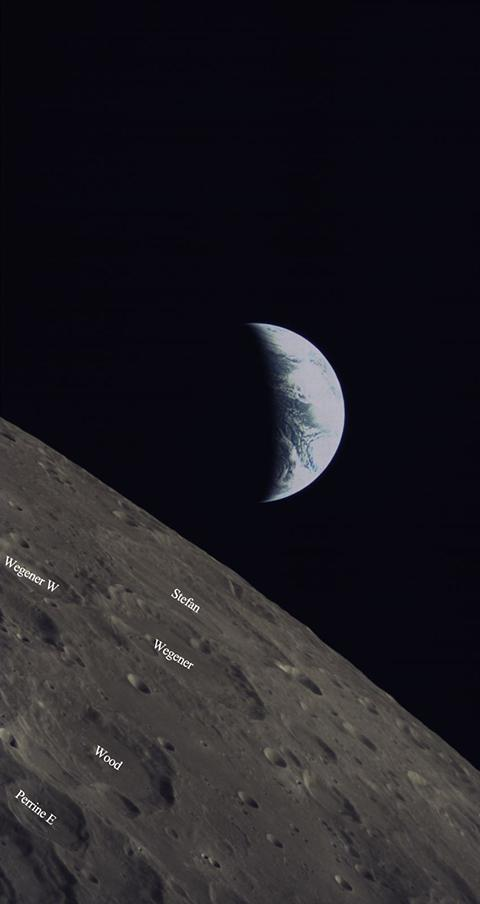 An image of the Earth and Moon taken on June 5 by the KACST-developed camera on China's Longjiang-2/DSLWP-B microsatellite, launched along with the Queqiao Chang'e-4 lunar relay satellite on May 20, 2018.