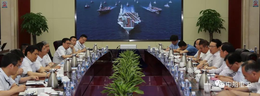 A China Shipbuilding Industry Corporation image showing CGI of three Chinese aircraft carriers.