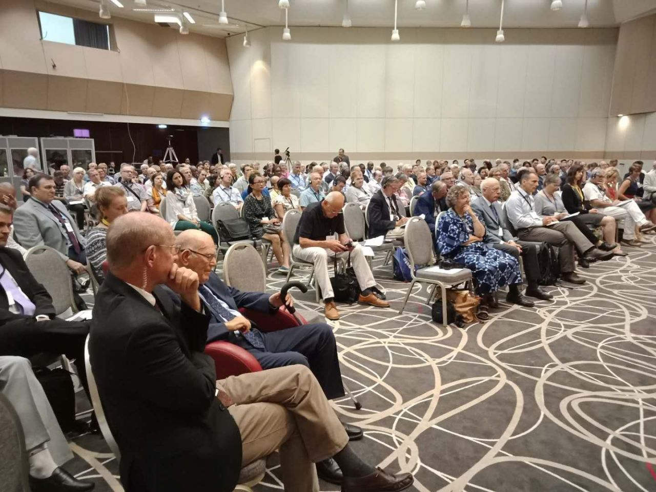 Approximately 300 people attended the conference on Saturday.