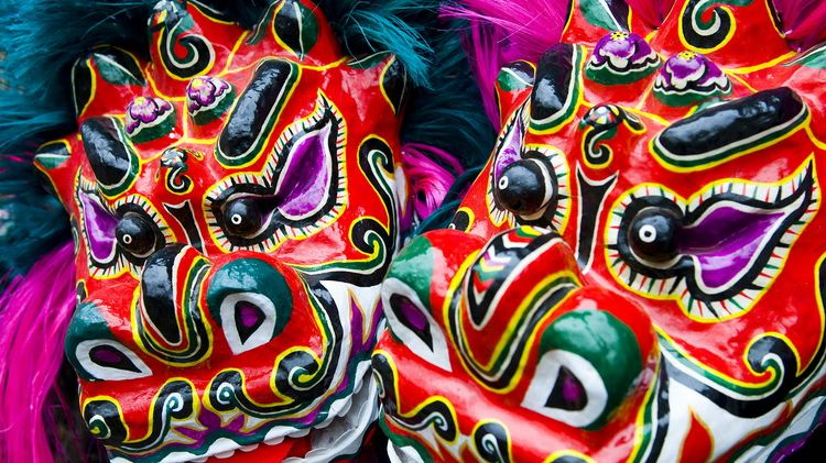 Meet the Chinese artist bringing lion dancing to life with his handmade masks