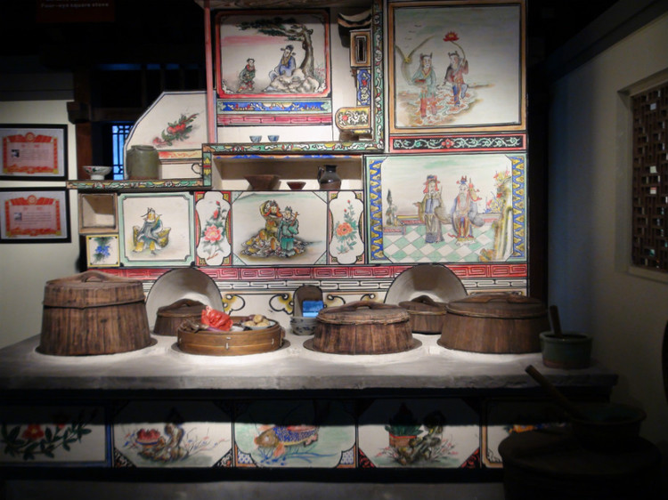 china zhejiang jiaxing painted stove museum details figures