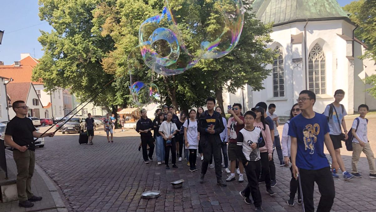 The students at Tallinn, Estonia.