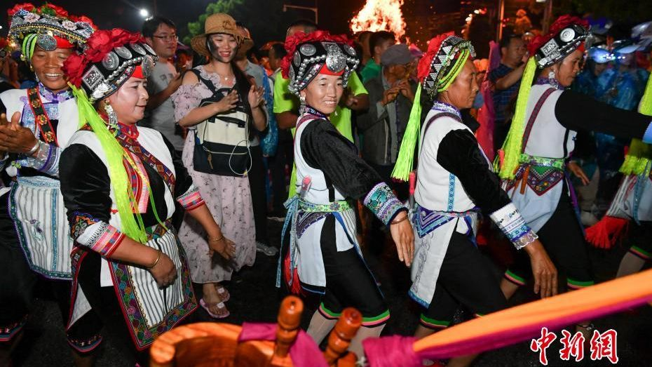 China's ethnic minority groups celebrated a torch festival over the weekend.