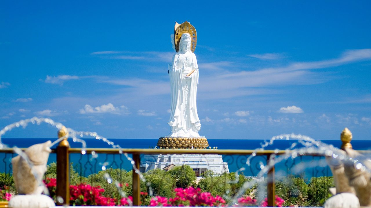 The 108-metre Guanyin of Nanshan statue in southern Hainan is part of a scenic area designated AAAAA, China's highest-rating for tourist attractions.