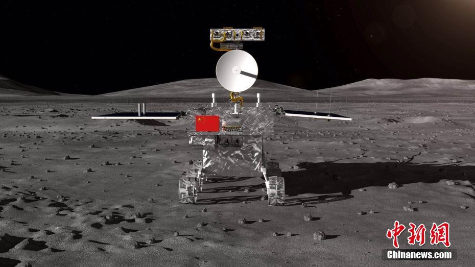 Official render of the Chang'e-4 moon rover expected to land on the far side of the moon in December..