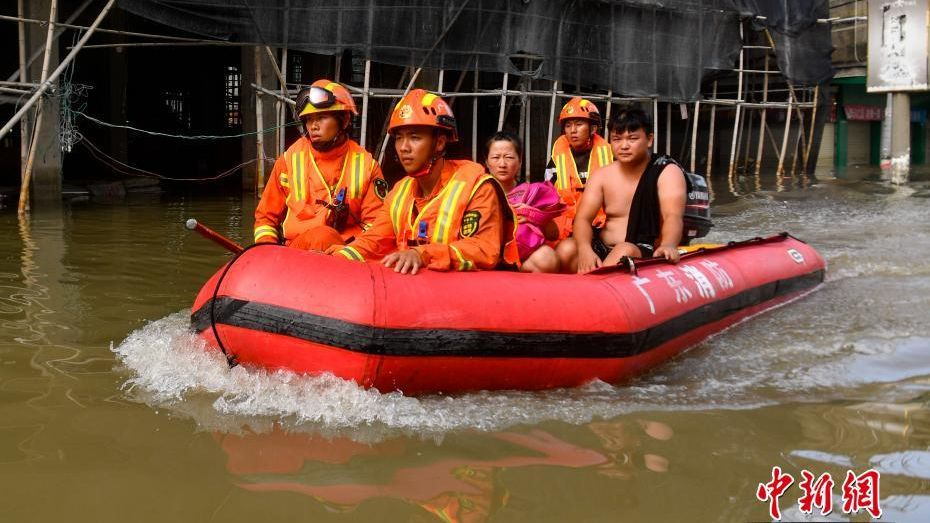 Severe floods in Guangdong Province.