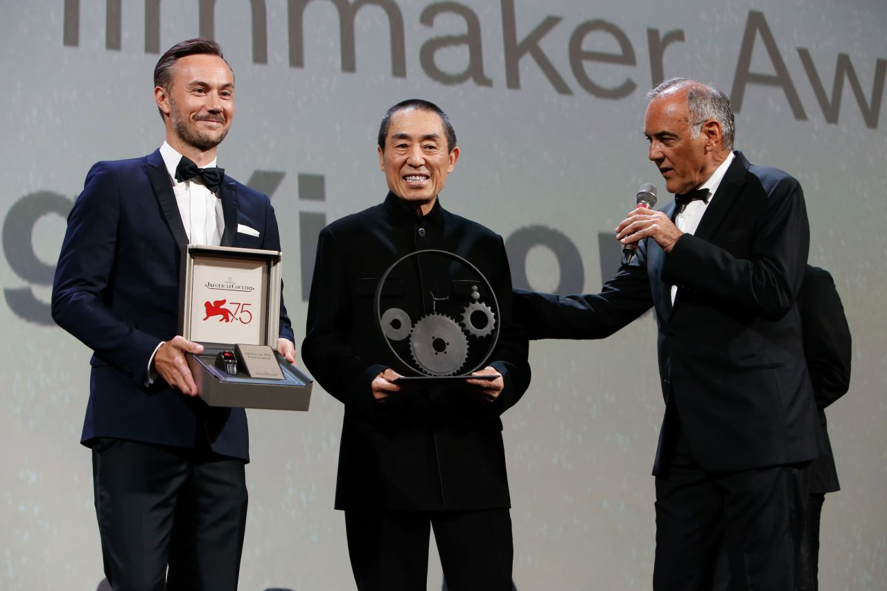 Chinese director Zhang Yimou receives filmmaker award at