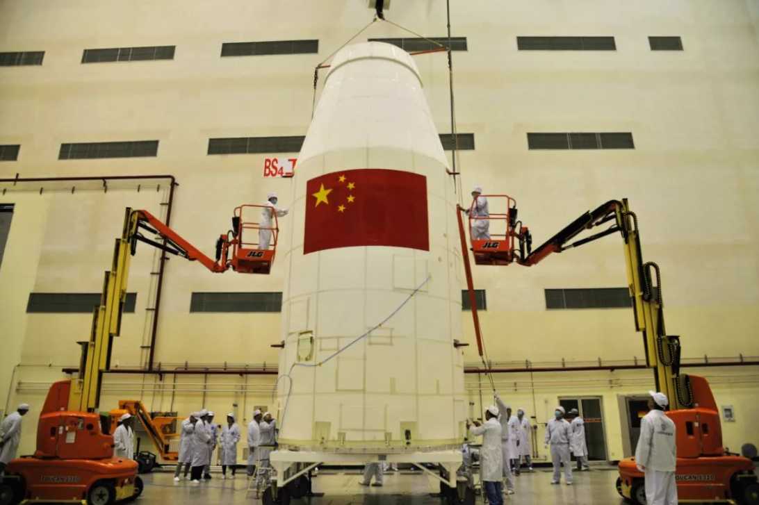 Preparations for launch of the Haiyang-1C marine observation satellite via a Long March 2C at the Taiyuan Satellite Launch Centre.