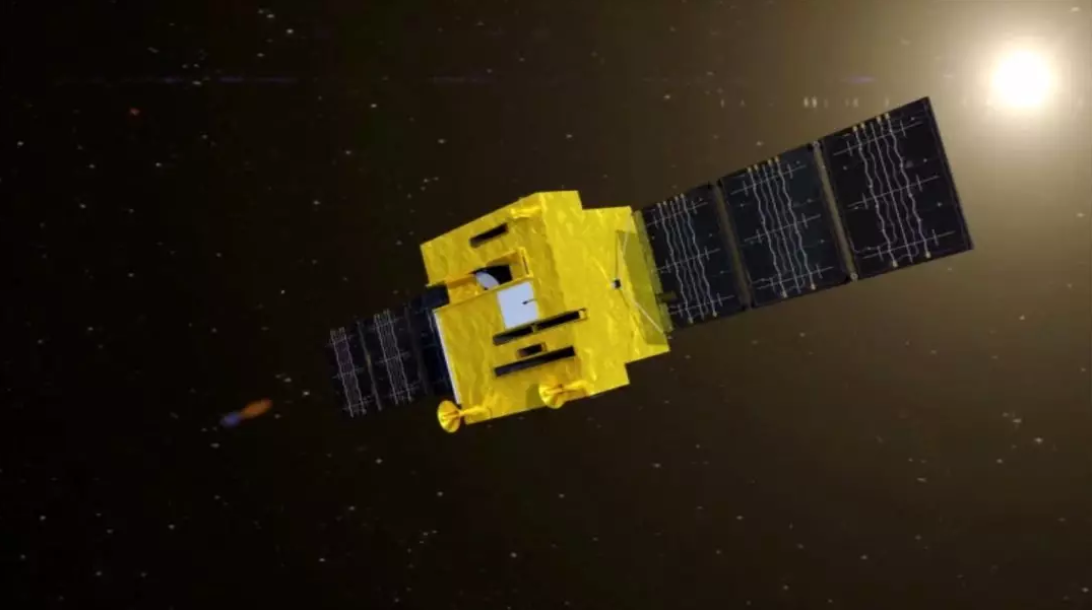 Render of the Haiyang-1C marine observation satellite based on a CAST2000 bus.