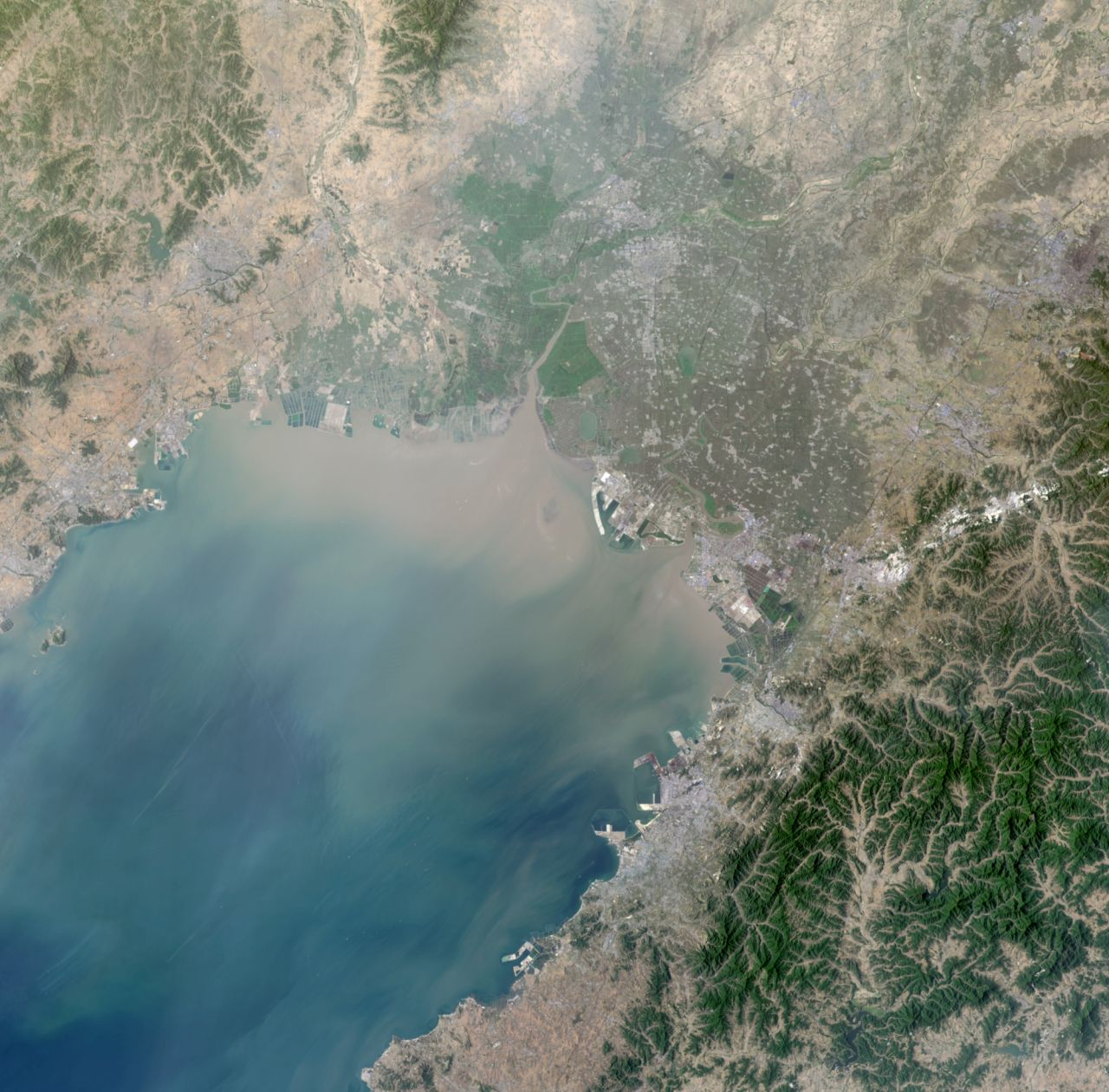 Liaoning Province, Northeast China, imaged by the Tiangong-2 space lab from orbit on June 1, 2018.