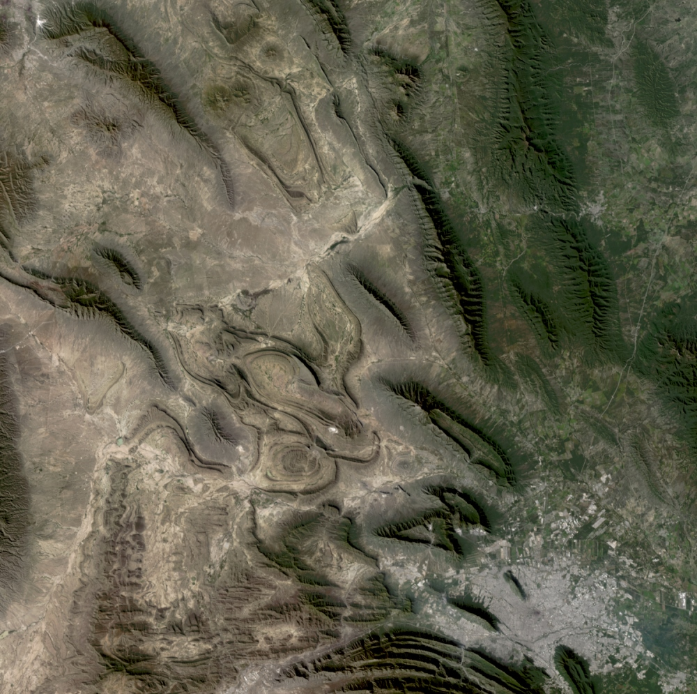 A section of Mexico imaged by the Tiangong-2 space lab from orbit.