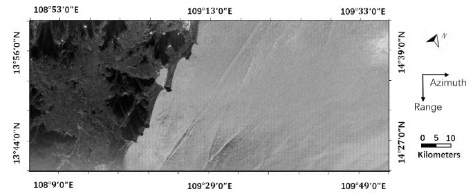 Amplitude map of part of the South China Sea from microwave altimeter data from Tiangong-2.