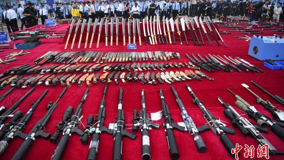 Police destroy over 140,000 firearms.