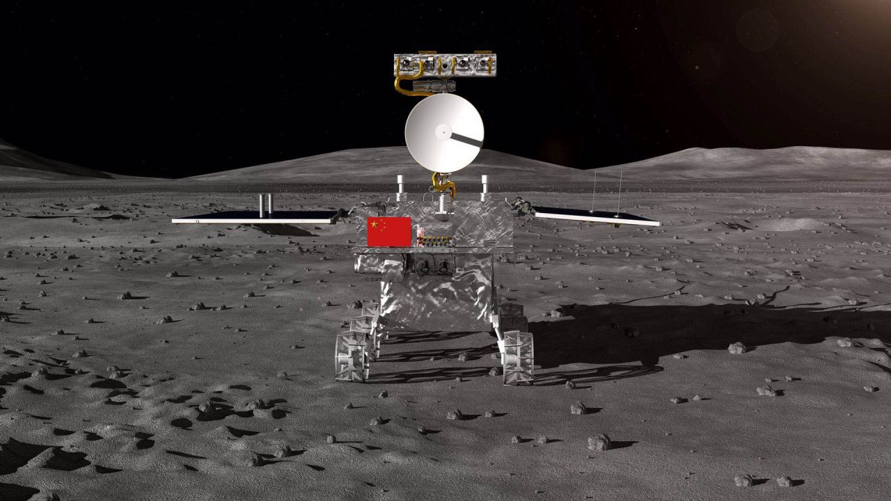 A render of China's Chang'e-4 moon rover that is expected to land on the far side of the Moon around December 2018.