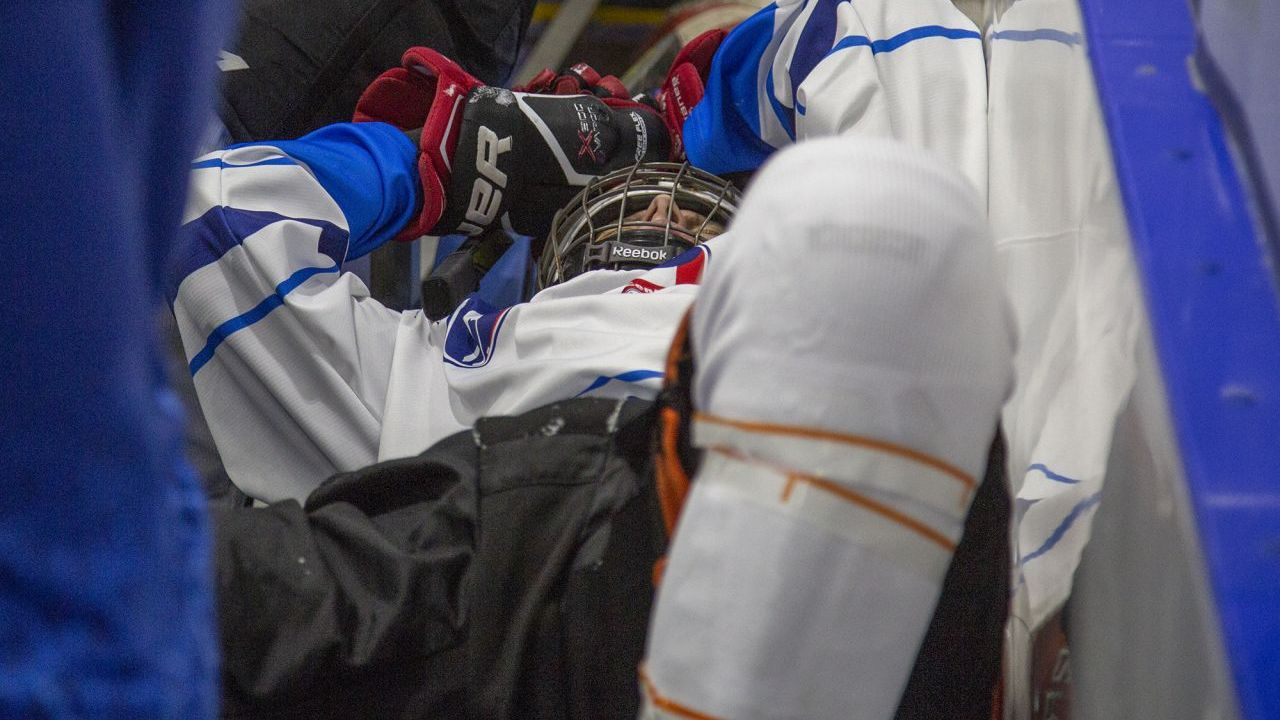 Injured Finnish ice hockey player.