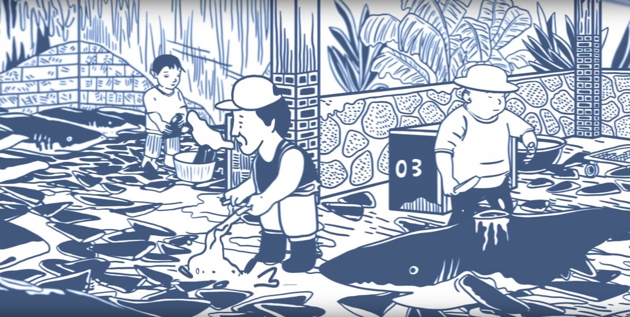 Animated campaign targets shark fin soup served at Chinese weddings