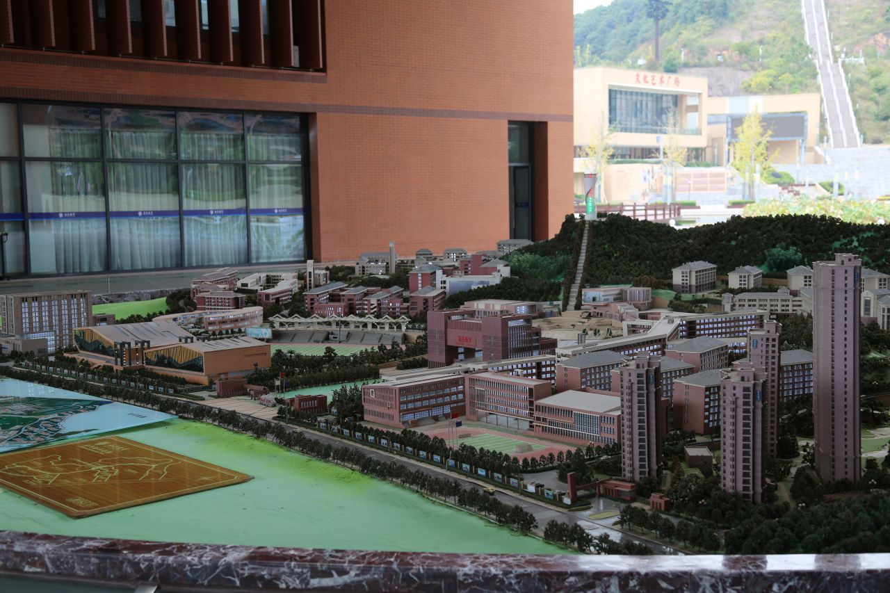 Hailiang Education's campus in Zhejiang Province houses 15,000 students and boasts a hotel, hospital and sports stadium.