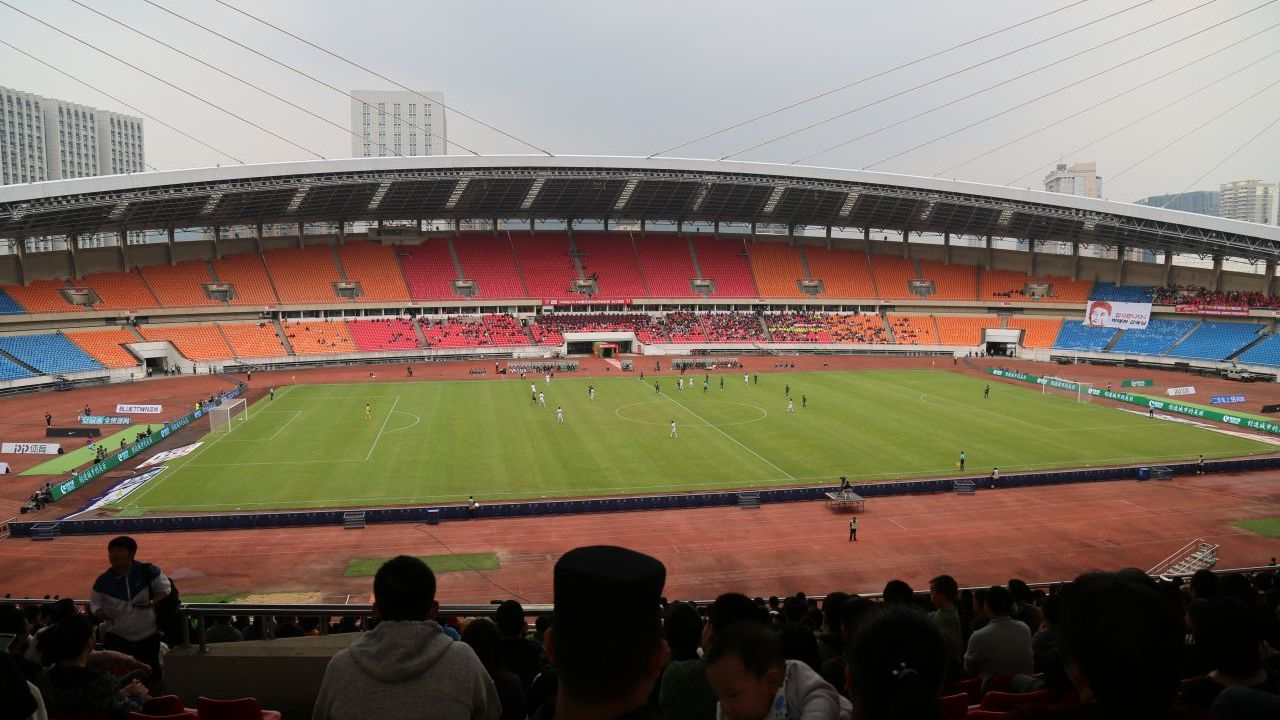 The Yellow Dragon Sports Center Stadium has a capacity of 51,000.