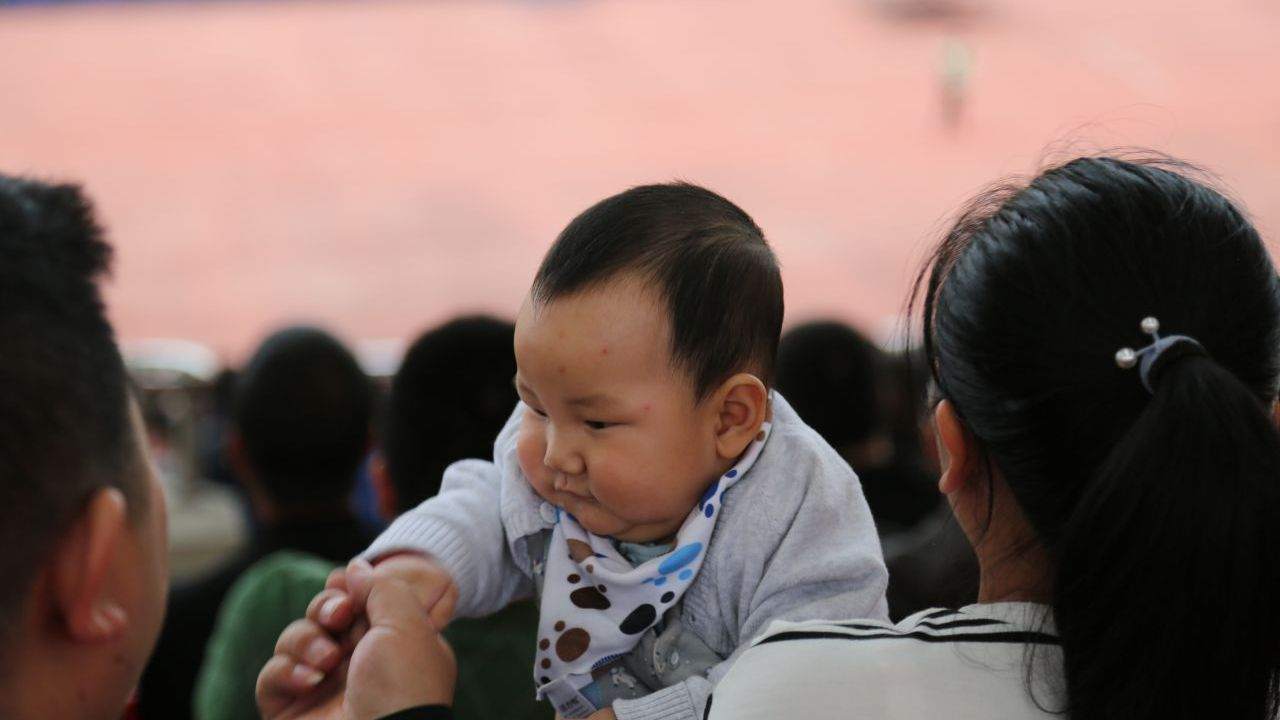 Supporters of all ages turned up to cheer on Zhejiang Greentown.