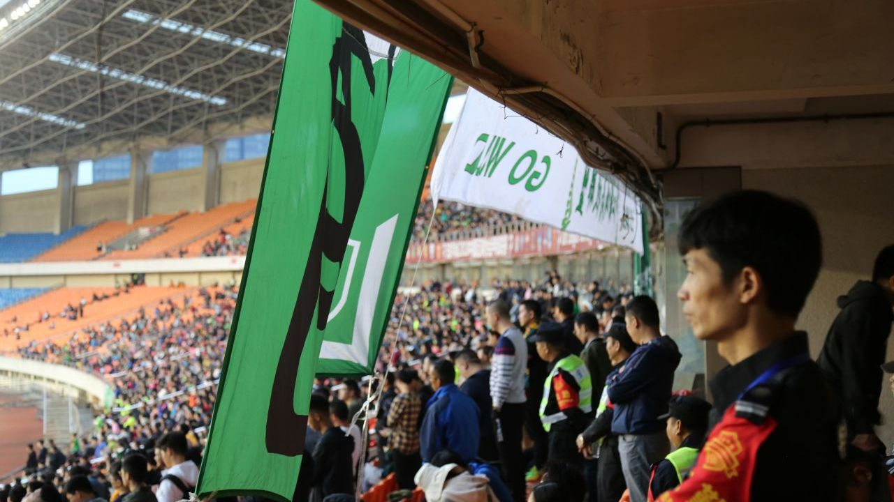 Zhejiang Greentown's ultras backed their team from start to finish.