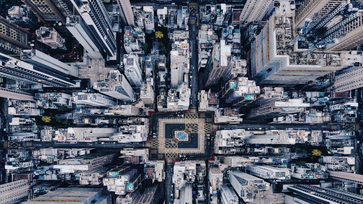 "Hong Kongese photographer Ian Leung won third prize in the Under 20 category at the 2018 Siena International Photo Awards with this aerial photograph of the Sheung Wan area in Hong Kong. It is titled ""Order Within Density."