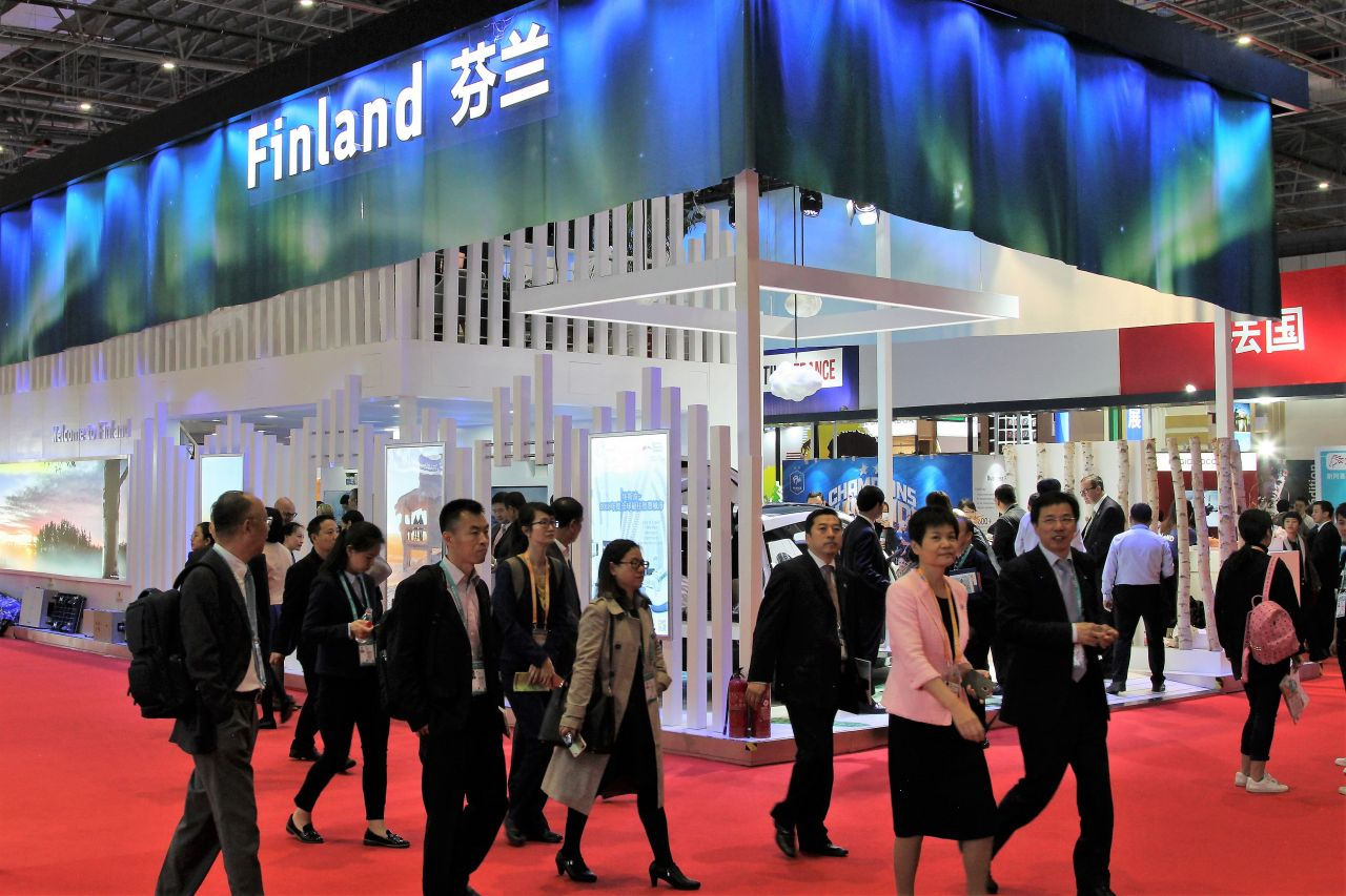 The Finnish pavilion at the China International Import Expo.