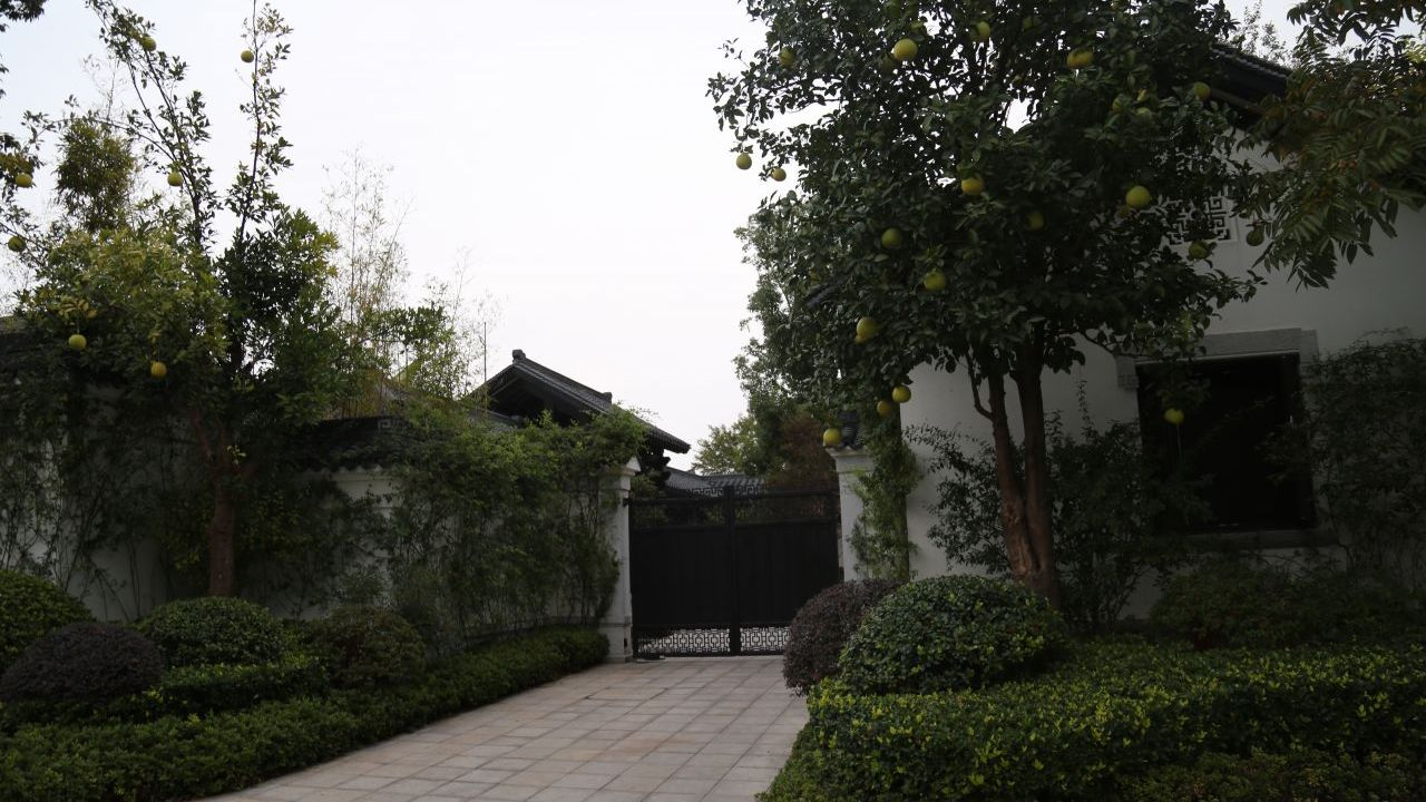 The gated area where Jack Ma works when he comes to Hangzhou.